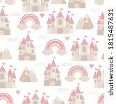 cute castle kingdom cartoon...   Shutterstock .eps vector #1815487631