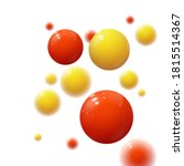 realistic colored spheres.... | Shutterstock .eps vector #1815514367