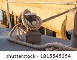 Tied Rope Knot On Metallic...