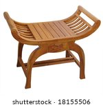 wooden luggage rack isolated... | Shutterstock . vector #18155506