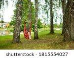 happy young girl relaxing in... | Shutterstock . vector #1815554027
