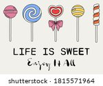 cute candy illustrations with... | Shutterstock .eps vector #1815571964