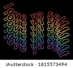 colorful vector love ya self...   Shutterstock .eps vector #1815573494