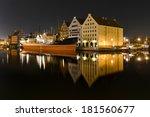cityscape on the vistula river... | Shutterstock . vector #181560677