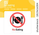 no eating sign premium icon...
