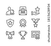 awards line icons. prize ... | Shutterstock .eps vector #1815628934
