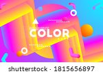 gradient saturated color yellow ...   Shutterstock .eps vector #1815656897