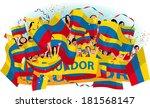 ecuador soccer fans | Shutterstock .eps vector #181568147