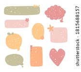 collection set of hand drawing... | Shutterstock .eps vector #1815688157