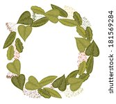 retro floral round wreath made... | Shutterstock . vector #181569284