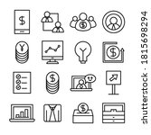 finance and business line icons ... | Shutterstock .eps vector #1815698294