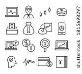 finance line icons vector set | Shutterstock .eps vector #1815698297