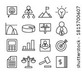 business management and finance ... | Shutterstock .eps vector #1815700607