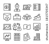 business and finance line icons ... | Shutterstock .eps vector #1815705347
