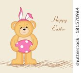 happy easter card design with... | Shutterstock .eps vector #181570964