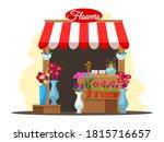 street market stall with...   Shutterstock .eps vector #1815716657