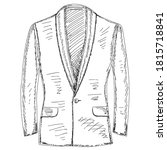 sketch hand drawn male jacket | Shutterstock .eps vector #1815718841
