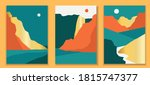 abstract coloful landscape... | Shutterstock .eps vector #1815747377