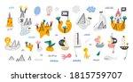 cute set of islands  pirate... | Shutterstock .eps vector #1815759707