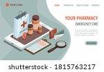 online pharmacy isometric... | Shutterstock .eps vector #1815763217