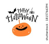happy halloween lettering.... | Shutterstock .eps vector #1815766394