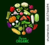 farm vegetables  vector veggies ...   Shutterstock .eps vector #1815766694