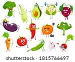 vegetables sportsmen  vector...   Shutterstock .eps vector #1815766697