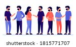 meeting of group of people with ...   Shutterstock .eps vector #1815771707