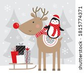 christmas greeting card  with...   Shutterstock .eps vector #1815774371