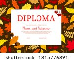 school diploma with autumn... | Shutterstock .eps vector #1815776891