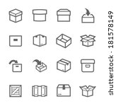 simple set of box and crates... | Shutterstock .eps vector #181578149