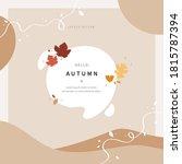 scandinavian style cut out... | Shutterstock .eps vector #1815787394