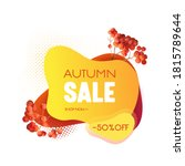 autumn sale banner template ...