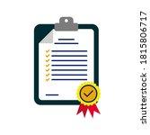 in compliance icon. checklist... | Shutterstock .eps vector #1815806717