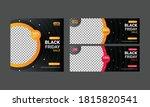 balck friday social media  post ... | Shutterstock .eps vector #1815820541