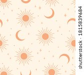 seamless pattern with sun and... | Shutterstock .eps vector #1815839684