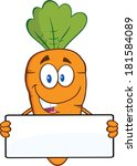 funny carrot cartoon character... | Shutterstock .eps vector #181584089