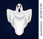 boo  scary ghost flat vector... | Shutterstock .eps vector #1815871784