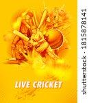 illustration of batsman player... | Shutterstock .eps vector #1815878141