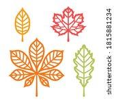 Autumn Leaves Set. Templates...