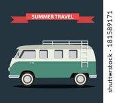 classic Camper Van - stock vector
