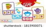educational  game for children. ... | Shutterstock .eps vector #1815900071