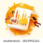 small 3d flying and analyzing... | Shutterstock .eps vector #1815942161