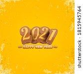cartoon 2021 happy new year... | Shutterstock .eps vector #1815945764