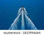High Speed Yacht Of Blue Color...