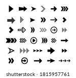 big black arrows flat icon set. ... | Shutterstock .eps vector #1815957761