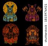 set ancient egypt god of death... | Shutterstock .eps vector #1815976421