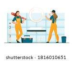 unusual female profession... | Shutterstock .eps vector #1816010651