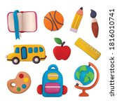 plasticine school objects set... | Shutterstock .eps vector #1816010741