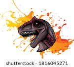 Vector Illustration Of A T Rex  ...